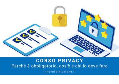 corso privacy obbligatorio