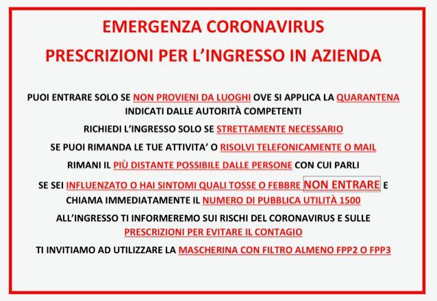 emergenza coronavirus azienda