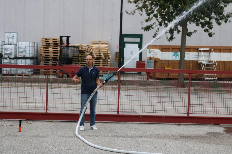 uso lancia idrante antincendio